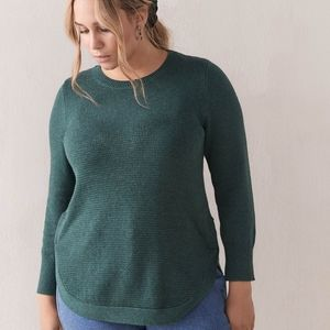 Curved Hem Sweater